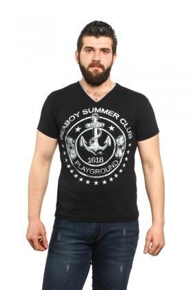 MTT Siyah MTT-518 Erkek Tişört