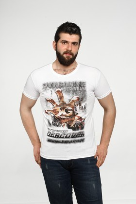 MTT Beyaz MTT-514 Erkek Tişört