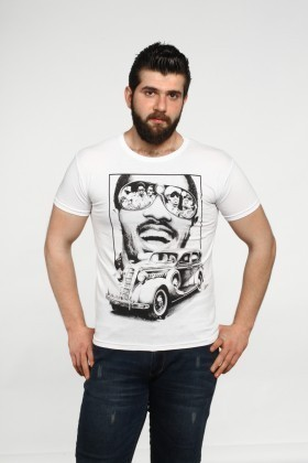 MTT Beyaz MTT-513 Erkek Tişört