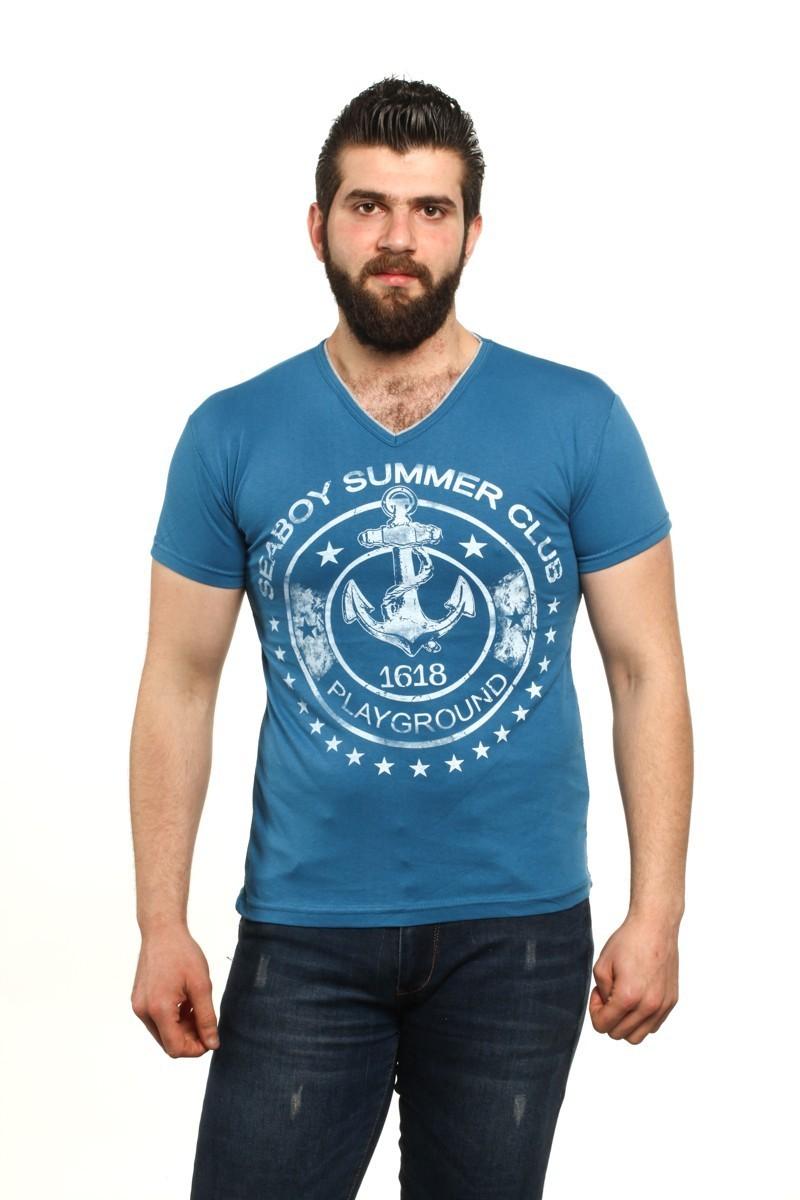 MTT Mavi MTT-508 Erkek Tişört