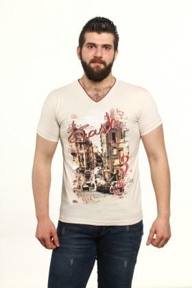 MTT Bej MTT-507 Erkek Tişört