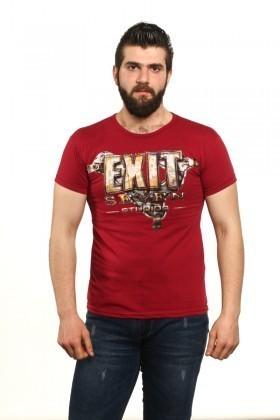 MTT Bordo MTT-505 Erkek Tişört