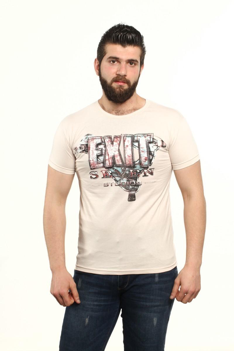 MTT Bej MTT-503 Erkek Tişört