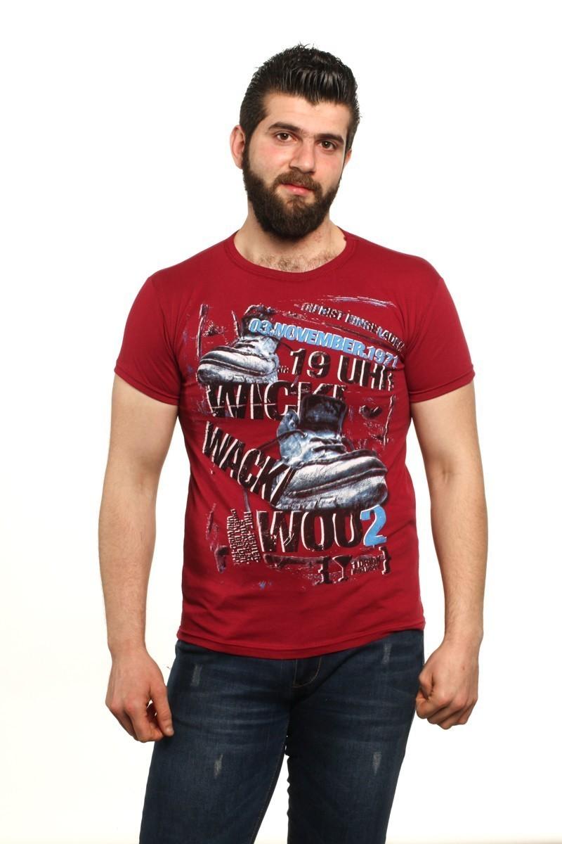 MTT Bordo MTT-502 Erkek Tişört