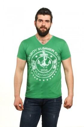 MTT Yeşil MTT-500 Erkek Tişört