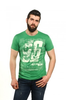 MTT Yeşil MTT-100 Erkek Tişört