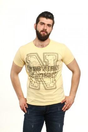 MTT Sarı MTT-99 Erkek Tişört