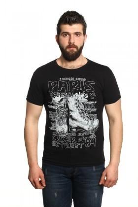MTT Siyah MTT-08 Erkek Tişört
