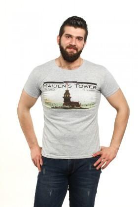 MTT Gri MTT-94 Erkek Tişört