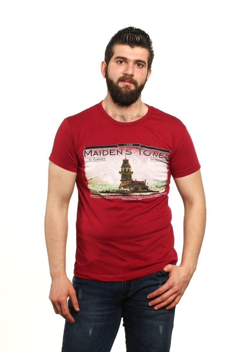 MTT Bordo MTT-93 Erkek Tişört