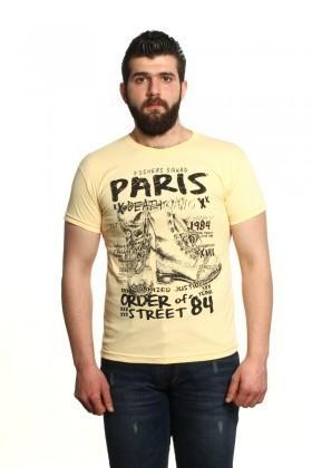 MTT Sarı MTT-10 Erkek Tişört
