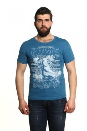 MTT Mavi MTT-11 Erkek Tişört