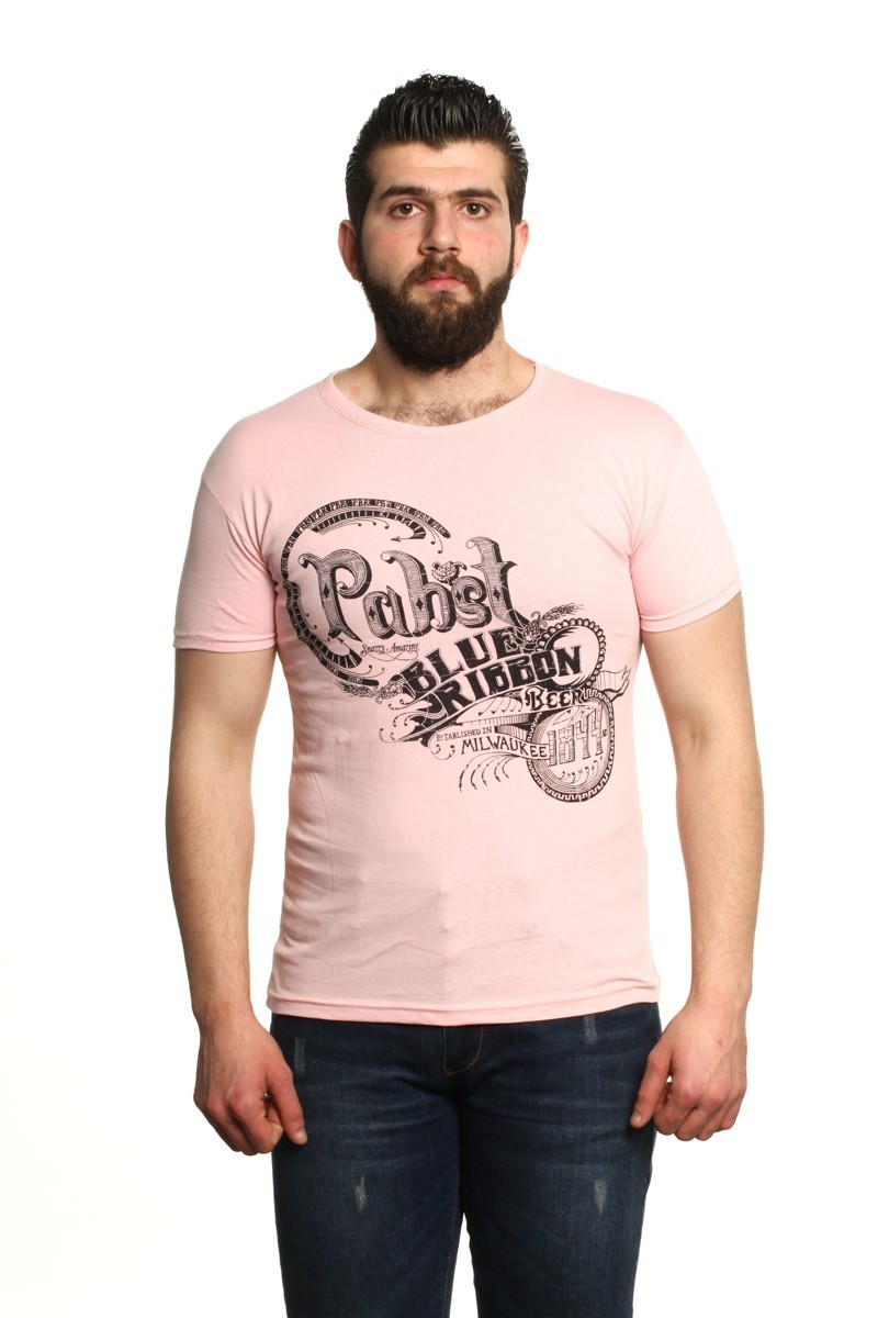MTT Açık Pembe MTT-12 Erkek Tişört
