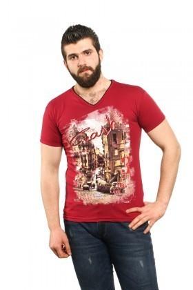 MTT Bordo MTT-90 Erkek Tişört