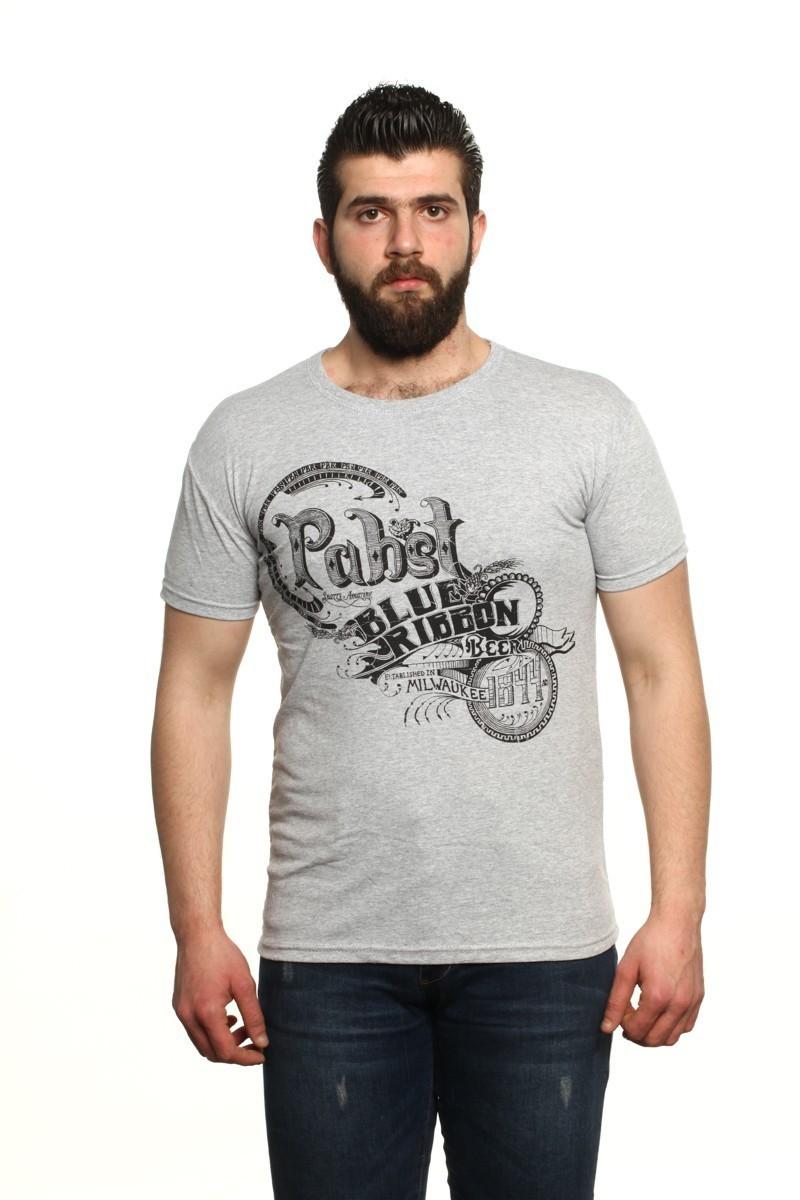 MTT Gri MTT-15 Erkek Tişört