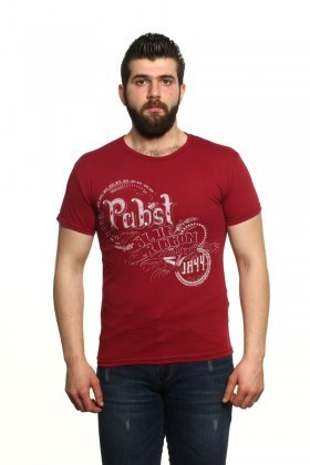 MTT Bordo MTT-16 Erkek Tişört