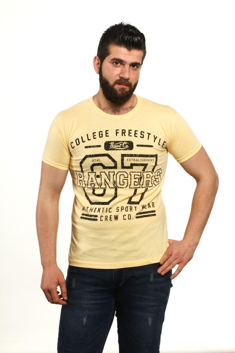 MTT Sarı MTT-86 Erkek Tişört