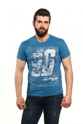MTT Mavi MTT-84 Erkek Tişört
