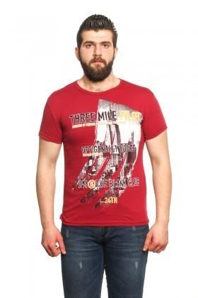 MTT Bordo MTT-21 Erkek Tişört