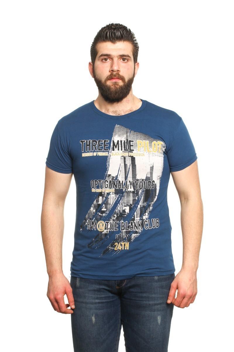 MTT Lacivert MTT-22 Erkek Tişört