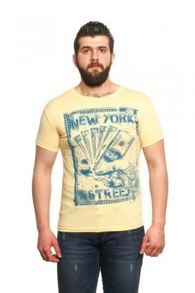 MTT Sarı MTT-23 Erkek Tişört