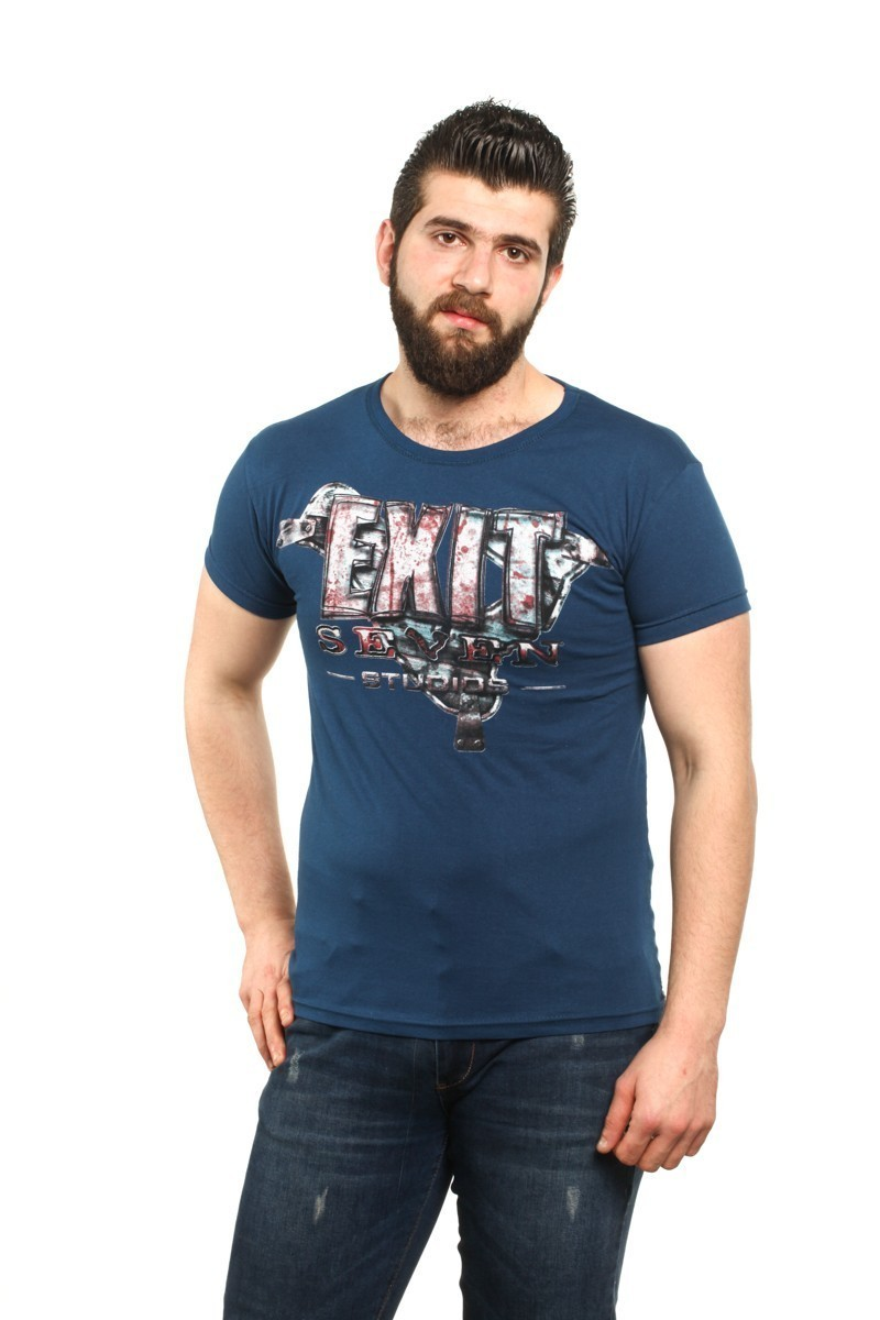 MTT Lacivert MTT-82 Erkek Tişört