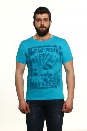 MTT Mavi MTT-24 Erkek Tişört