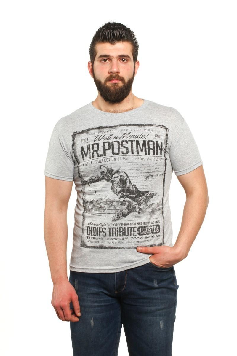 MTT Gri MTT-28 Erkek Tişört