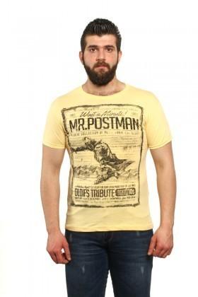 MTT Sarı MTT-31 Erkek Tişört
