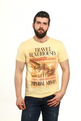 MTT Sarı MTT-73 Erkek Tişört