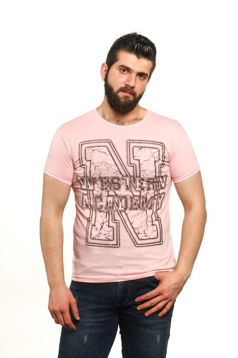 MTT Açık Pembe MTT-72 Erkek Tişört