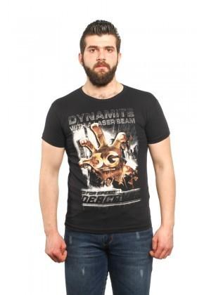 MTT Siyah MTT-40 Erkek Tişört