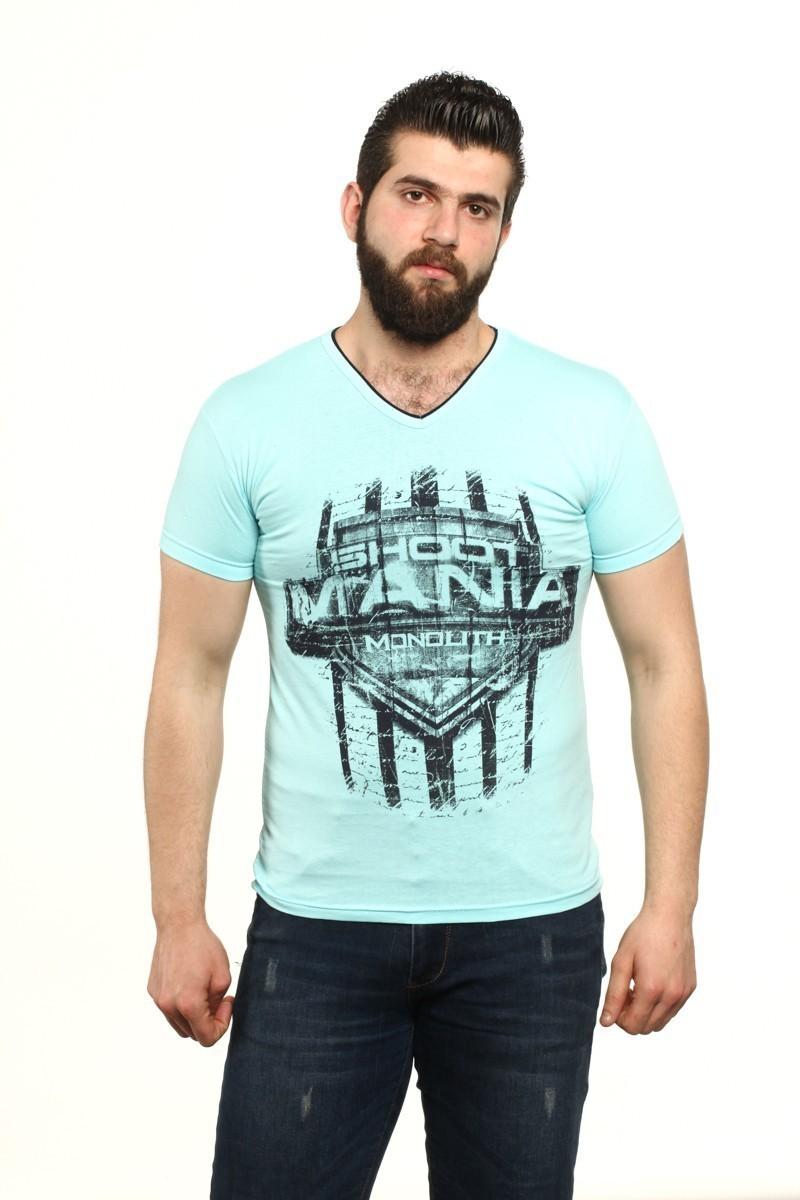 MTT Gök Mavi MTT-67 Erkek Tişört