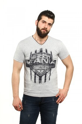 MTT Gri MTT-66 Erkek Tişört