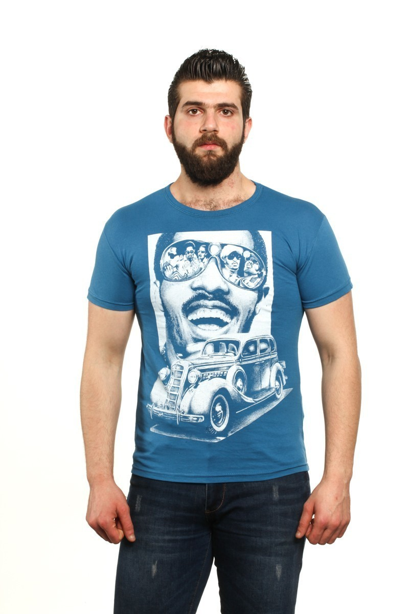 MTT Mavi MTT-46 Erkek Tişört