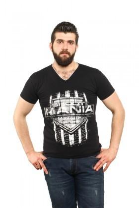 MTT Siyah MTT-60 Erkek Tişört