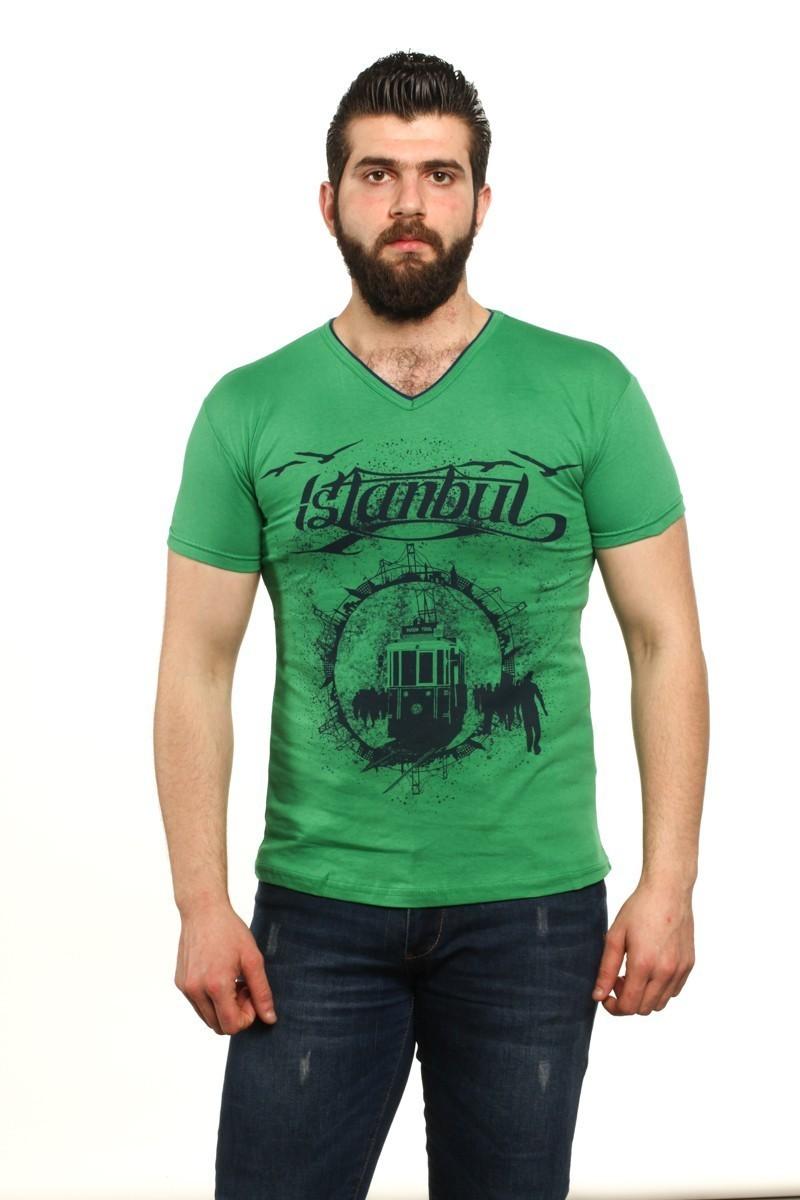 MTT Yeşil MTT-48 Erkek Tişört