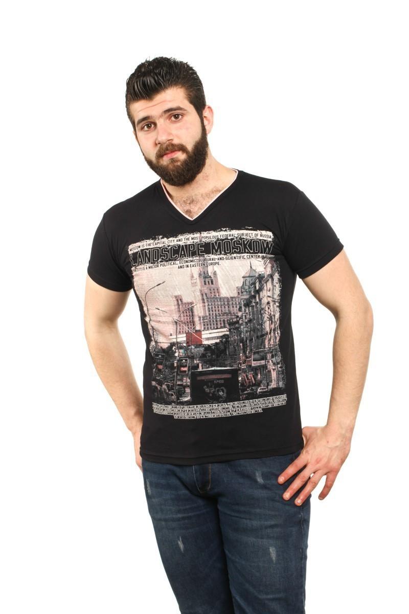 MTT Siyah MTT-57 Erkek Tişört