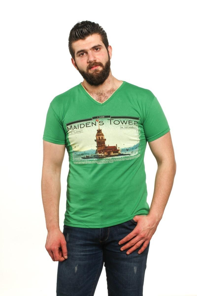 MTT Yeşil MTT-54 Erkek Tişört
