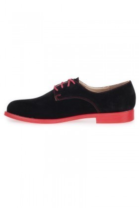 Caprito Siyah-Kırmızı CPR-120-SUET Bayan Ayakkabı