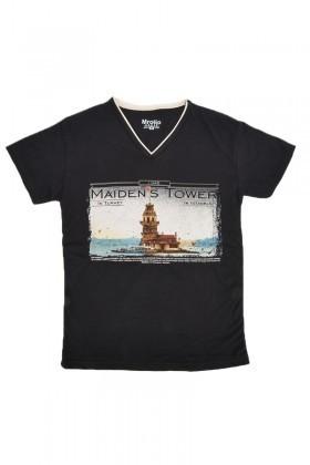 MTT Siyah MTT-555 Erkek Tişört