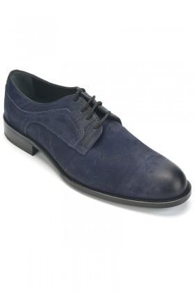 Three Star Lacivert TS-2006 Hakiki Deri Erkek Klasik Ayakkabı