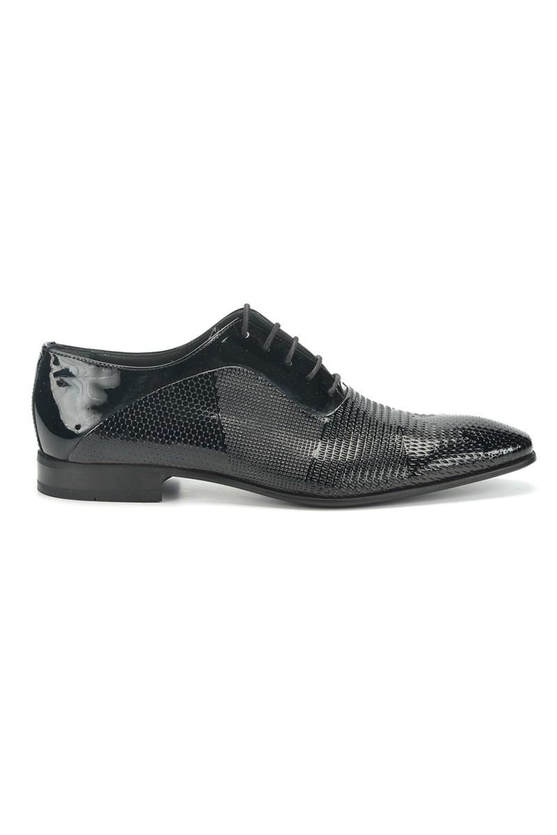 Three Star Siyah TS-079 Hakiki Deri Erkek Klasik Ayakkabı