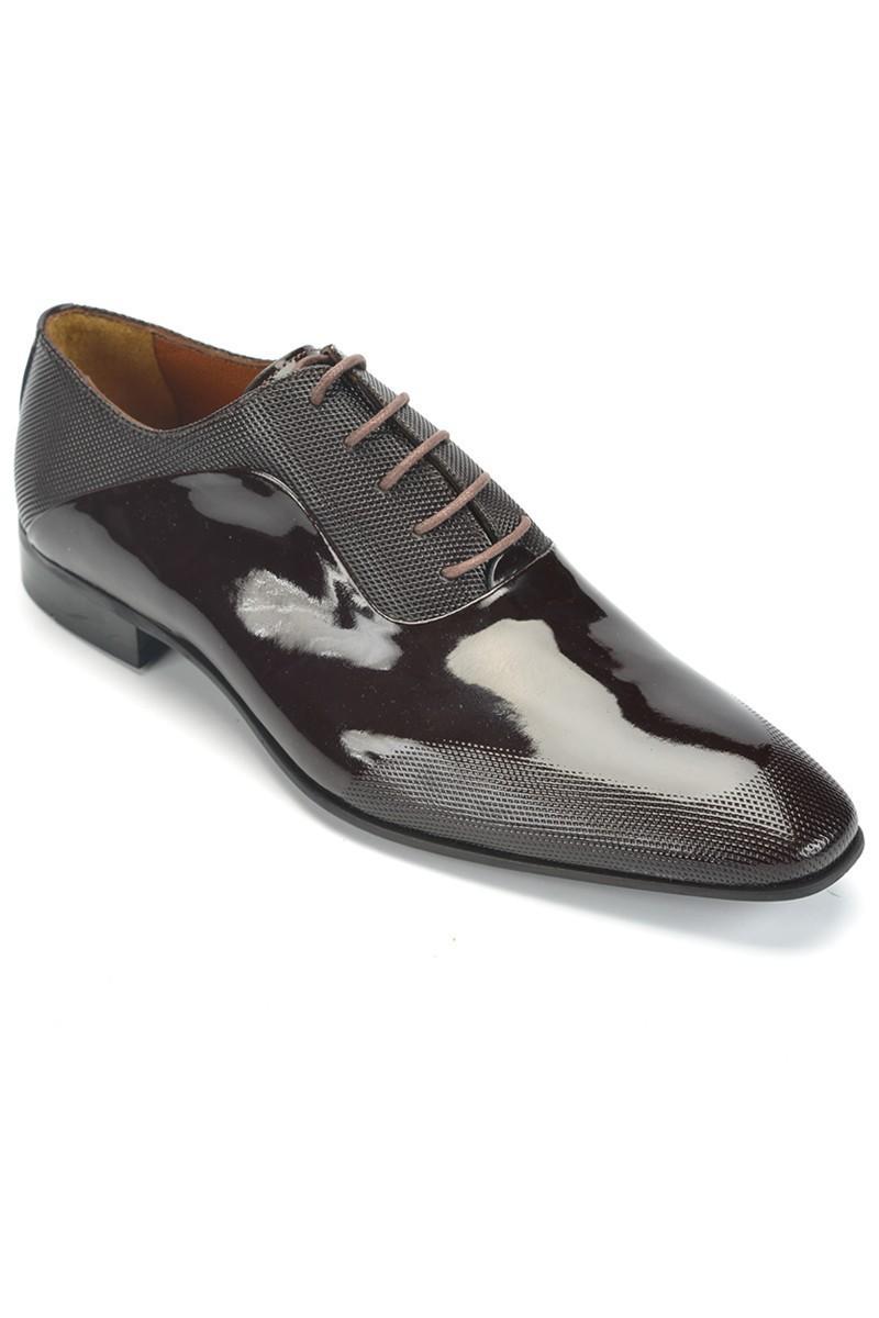Three Star Kahverengi TS-037-KAHVE Hakiki Deri Erkek Klasik Ayakkabı