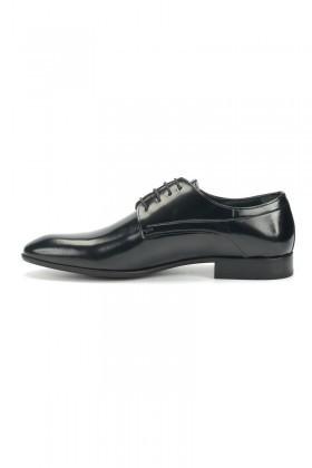 BLUESOIL Siyah BS-06 Hakiki Deri Erkek Klasik Ayakkabı