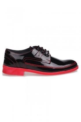 BLUESOIL Siyah-Kırmızı BS-1044 Erkek Ayakkabı