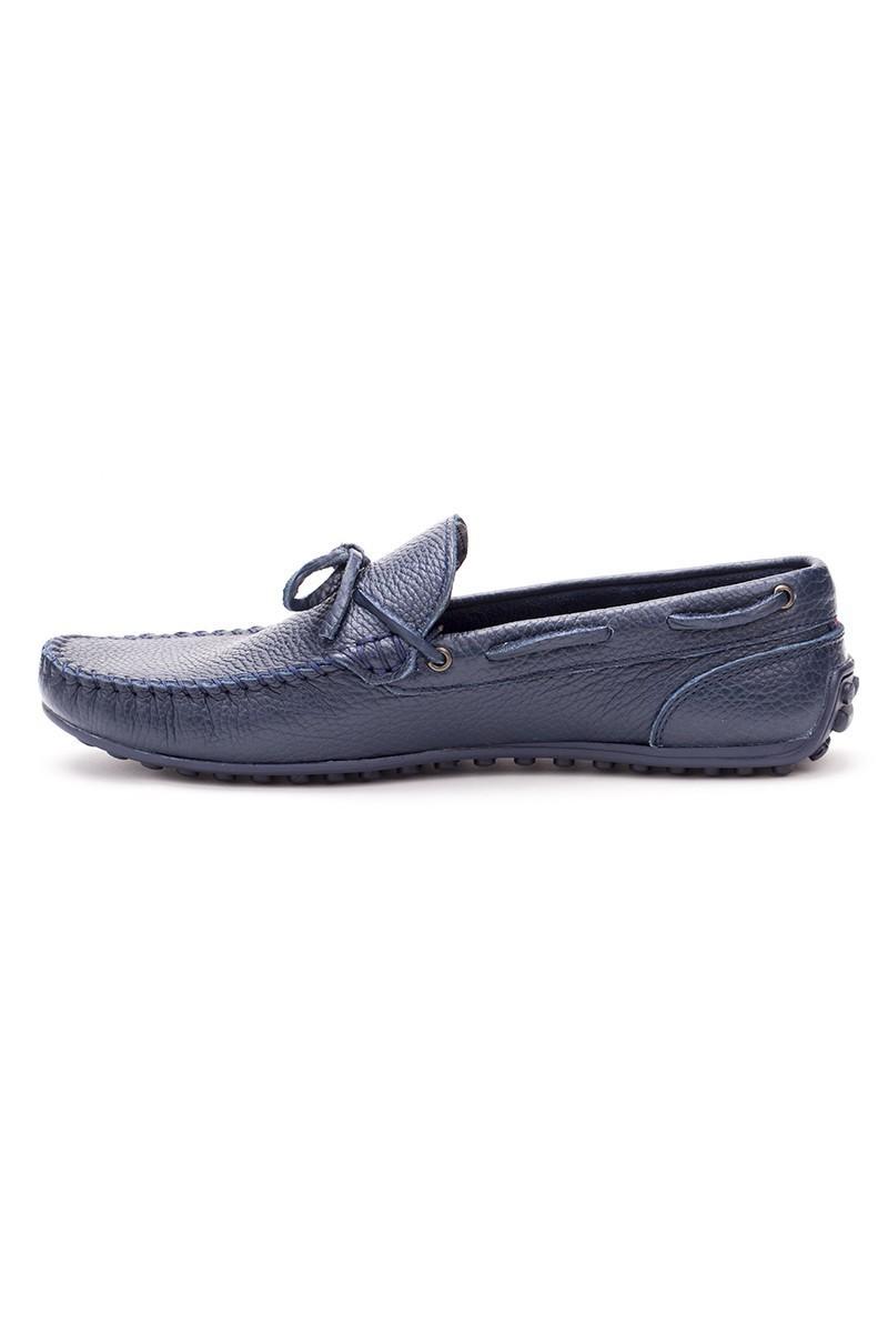 Bravelli Lacivert BRVL-FR-BAG-DERI Hakiki Deri Erkek Ayakkabı