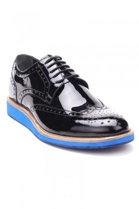 Chaos Siyah-Mavi TS-2020 Hakiki Deri Erkek Ayakkabı