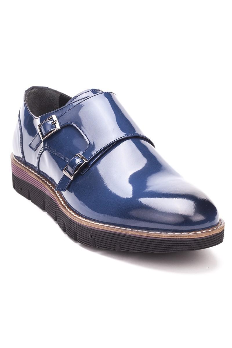 Chaos Mavi TS-1540 Hakiki Deri Erkek Ayakkabı