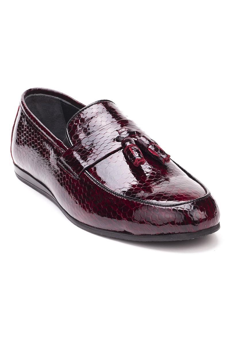 Chaos Bordo TS-03 Hakiki Deri Erkek Ayakkabı